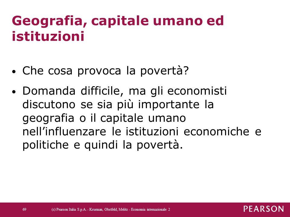 Geografia, capitale umano ed istituzioni