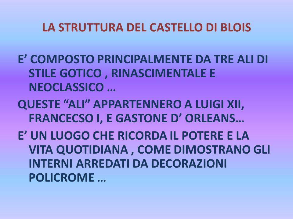 LA STRUTTURA DEL CASTELLO DI BLOIS
