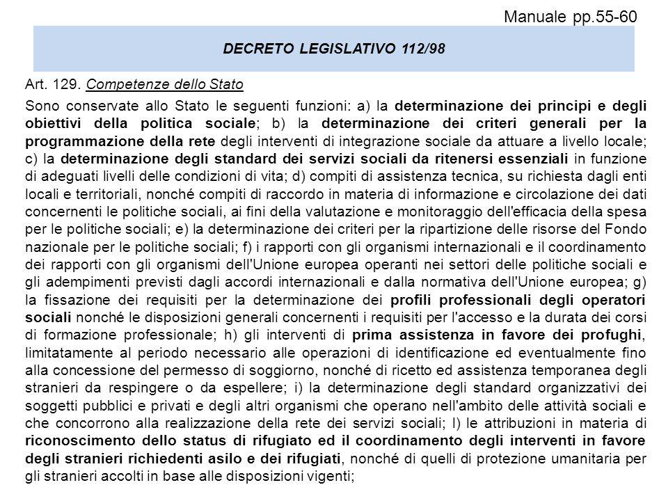 Legislazione dei servizi sociali ppt scaricare for Permesso di soggiorno status