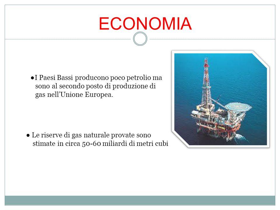 ECONOMIA ●I Paesi Bassi producono poco petrolio ma