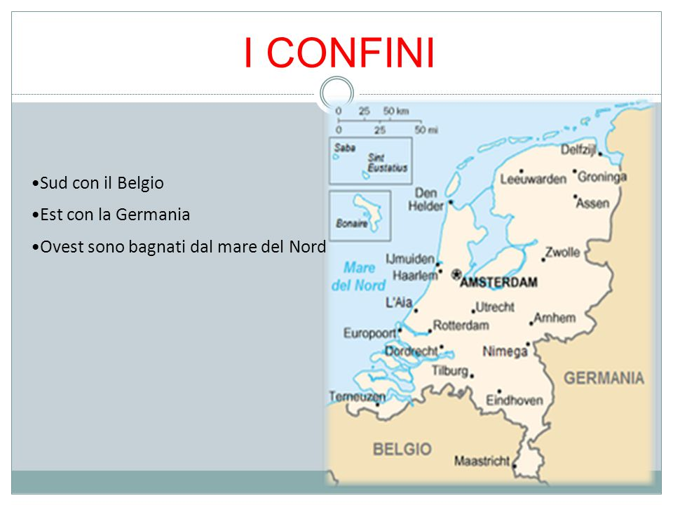 I CONFINI Sud con il Belgio Est con la Germania