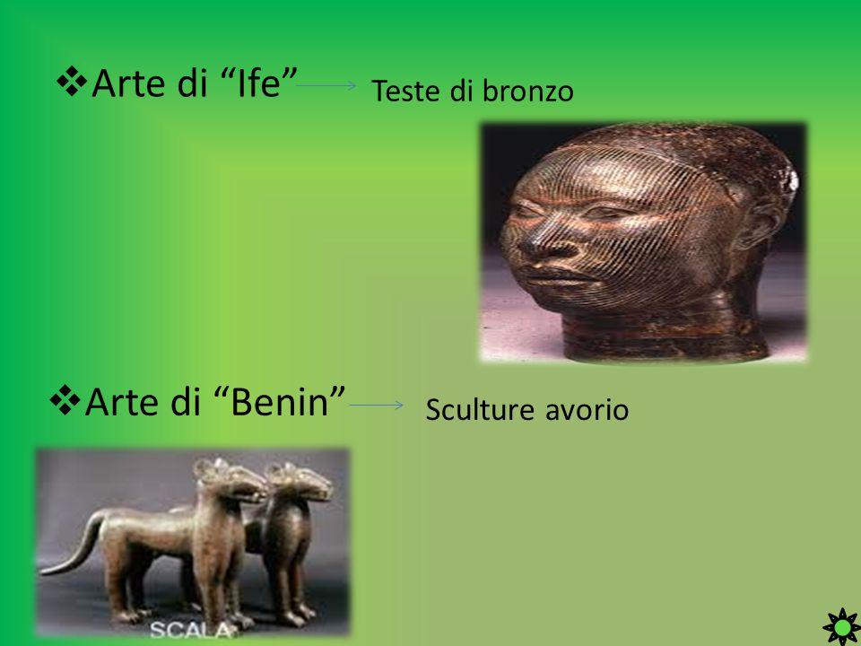 Arte di Ife Teste di bronzo Arte di Benin Sculture avorio