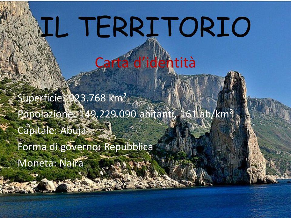 IL TERRITORIO Carta d'identità Superficie: 923.768 km²