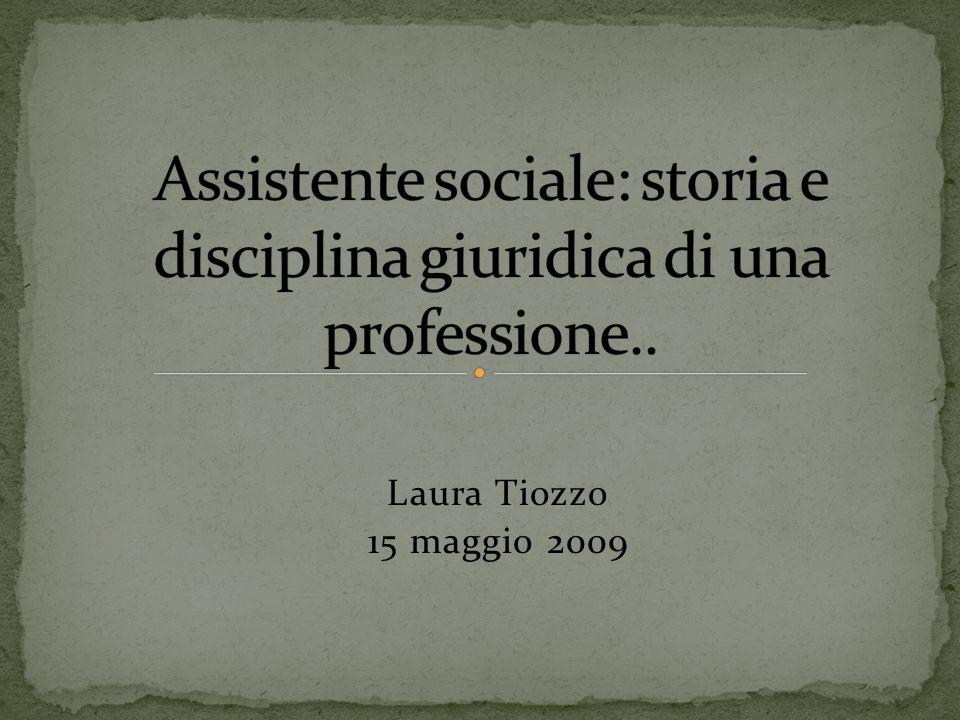 Assistente sociale: storia e disciplina giuridica di una professione..