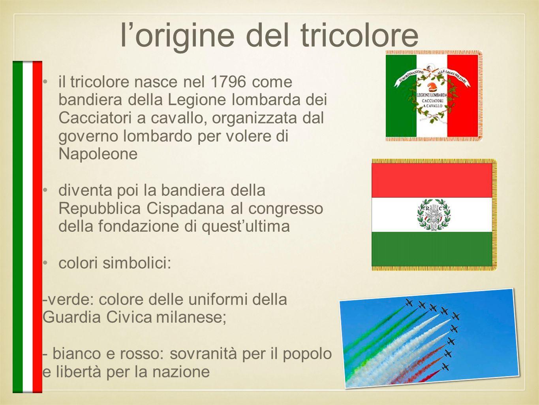 l'origine del tricolore