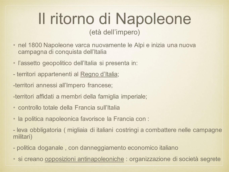 Il ritorno di Napoleone (età dell'impero)