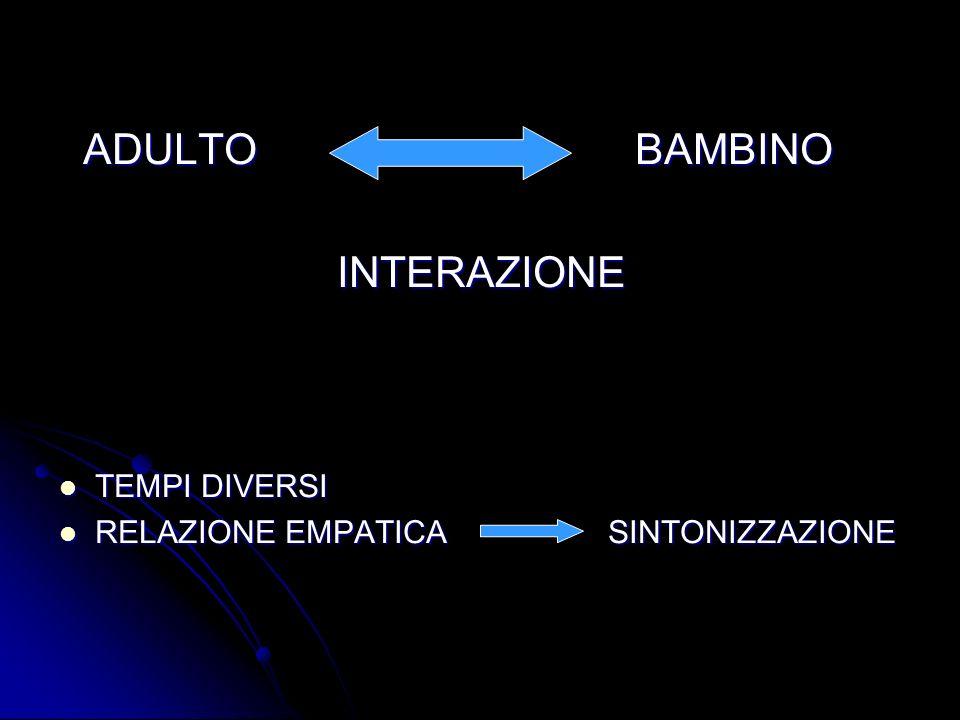 ADULTO BAMBINO INTERAZIONE TEMPI DIVERSI