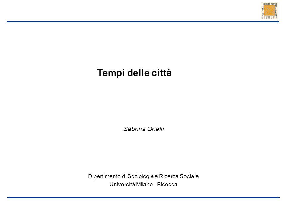 Tempi delle città Sabrina Ortelli