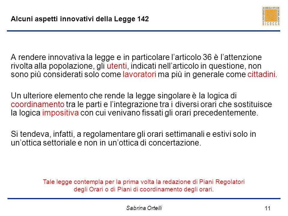 Alcuni aspetti innovativi della Legge 142