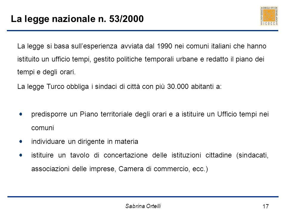 La legge nazionale n. 53/2000