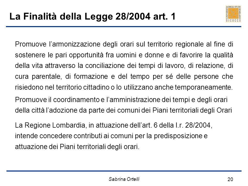 La Finalità della Legge 28/2004 art. 1