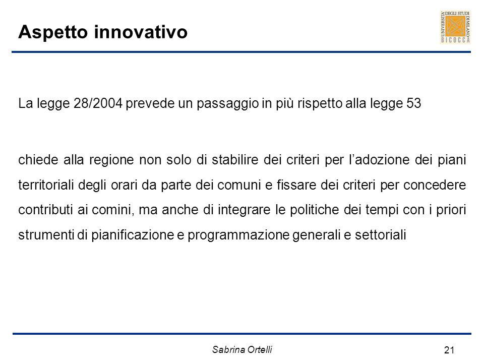 Aspetto innovativo La legge 28/2004 prevede un passaggio in più rispetto alla legge 53.