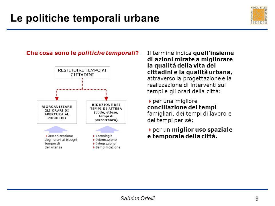 Le politiche temporali urbane