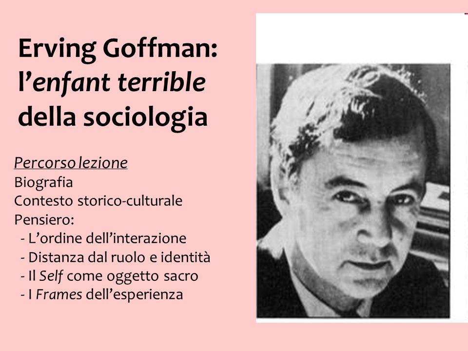 Erving Goffman: l'enfant terrible della sociologia