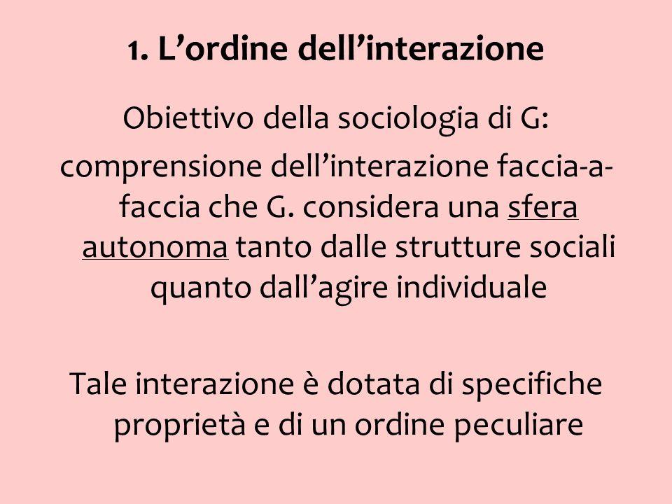 1. L'ordine dell'interazione