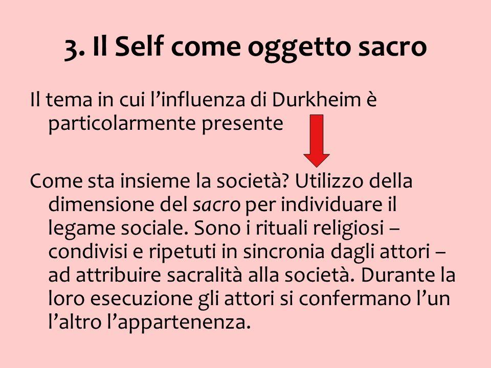 3. Il Self come oggetto sacro