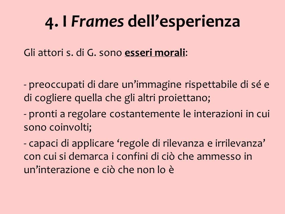 4. I Frames dell'esperienza