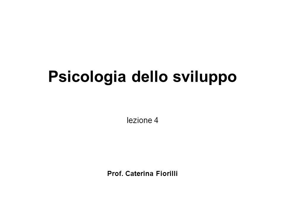 Psicologia dello sviluppo lezione 4 Prof. Caterina Fiorilli