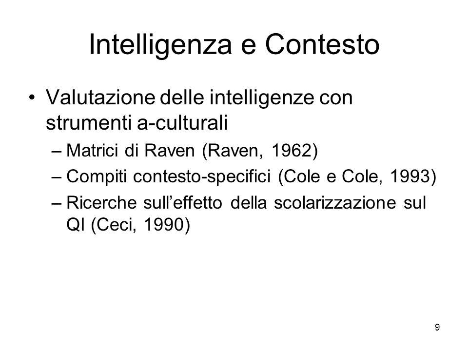 Intelligenza e Contesto
