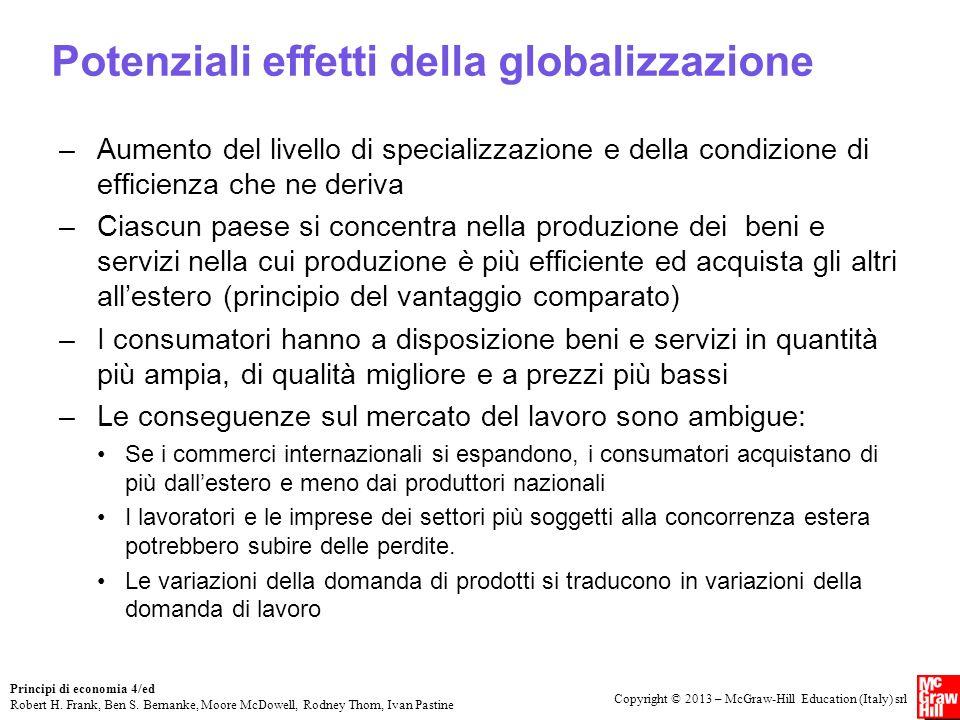 Potenziali effetti della globalizzazione