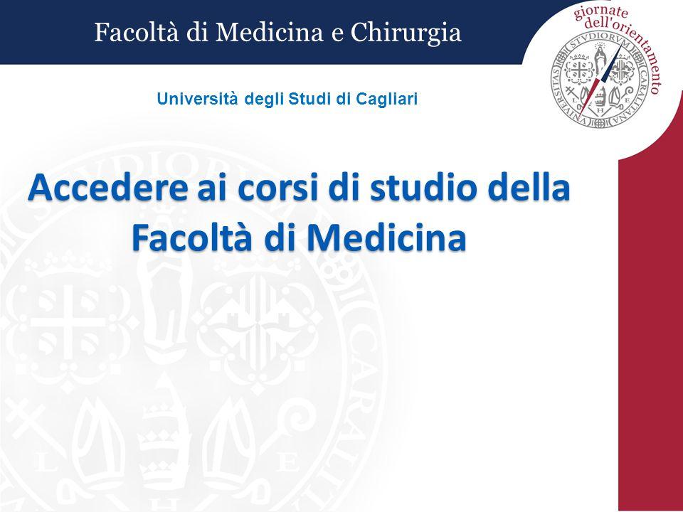 Accedere ai corsi di studio della Facoltà di Medicina