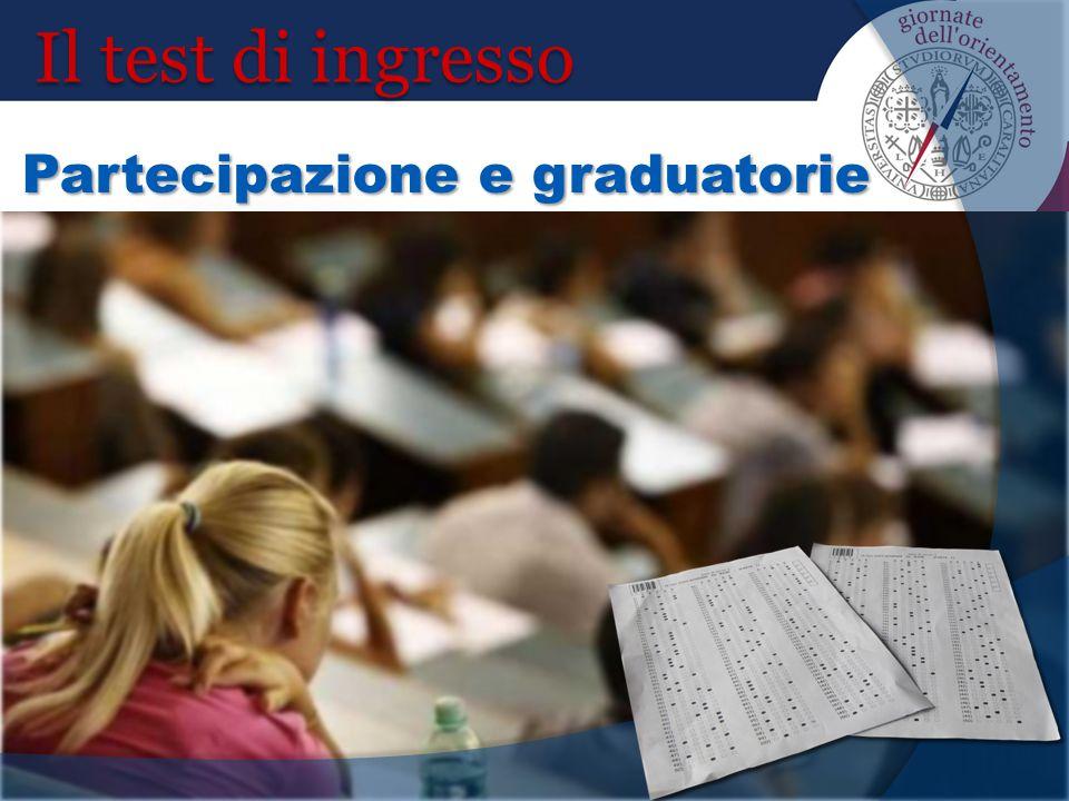 Il test di ingresso Partecipazione e graduatorie