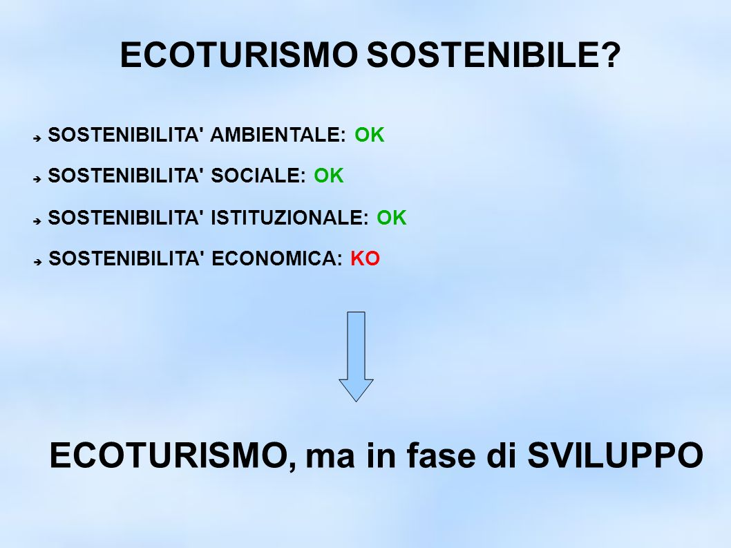 ECOTURISMO SOSTENIBILE