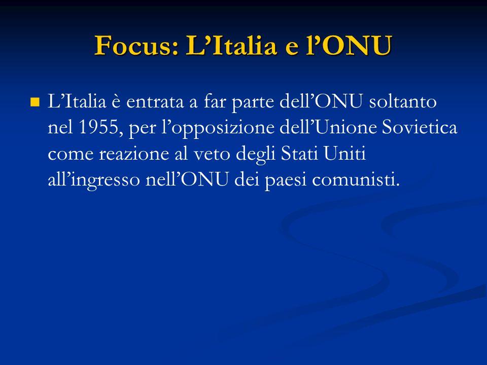 Focus: L'Italia e l'ONU