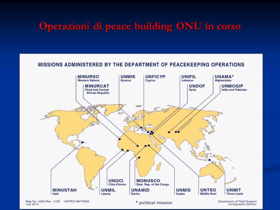 Operazioni di peace building ONU in corso