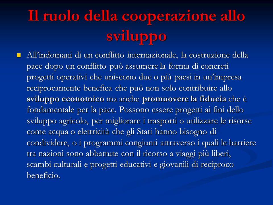 Il ruolo della cooperazione allo sviluppo