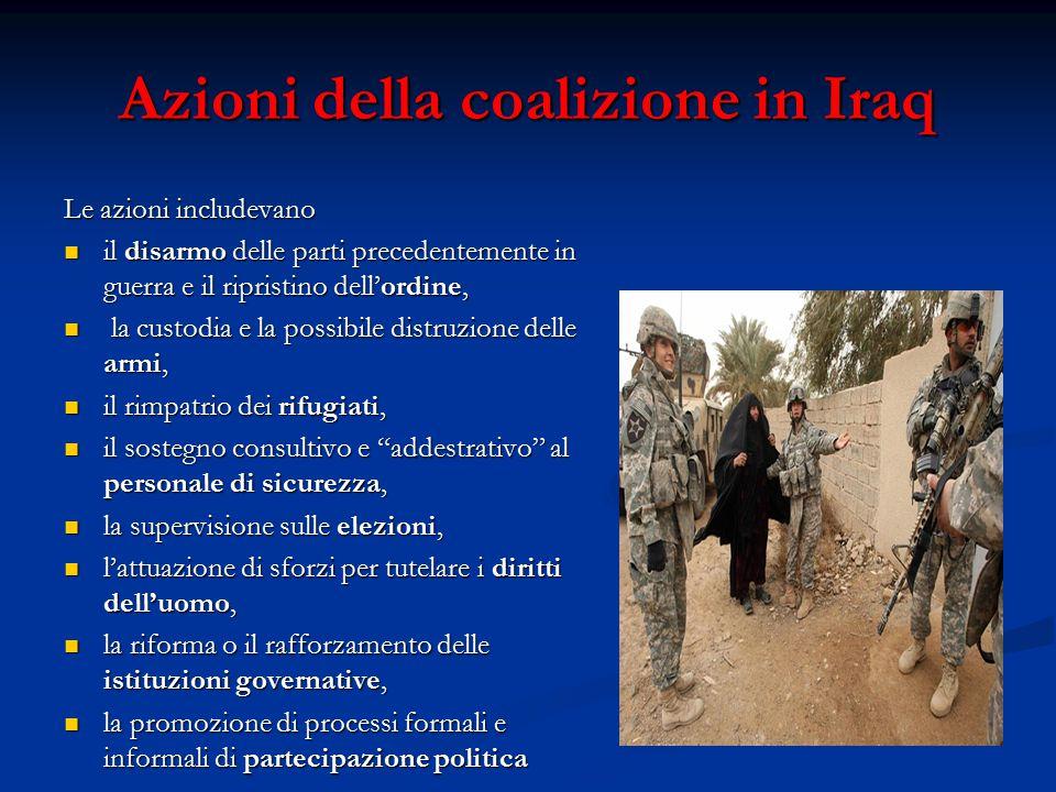 Azioni della coalizione in Iraq