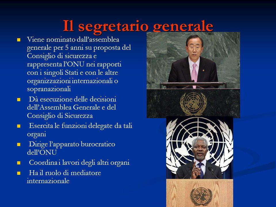 Il segretario generale
