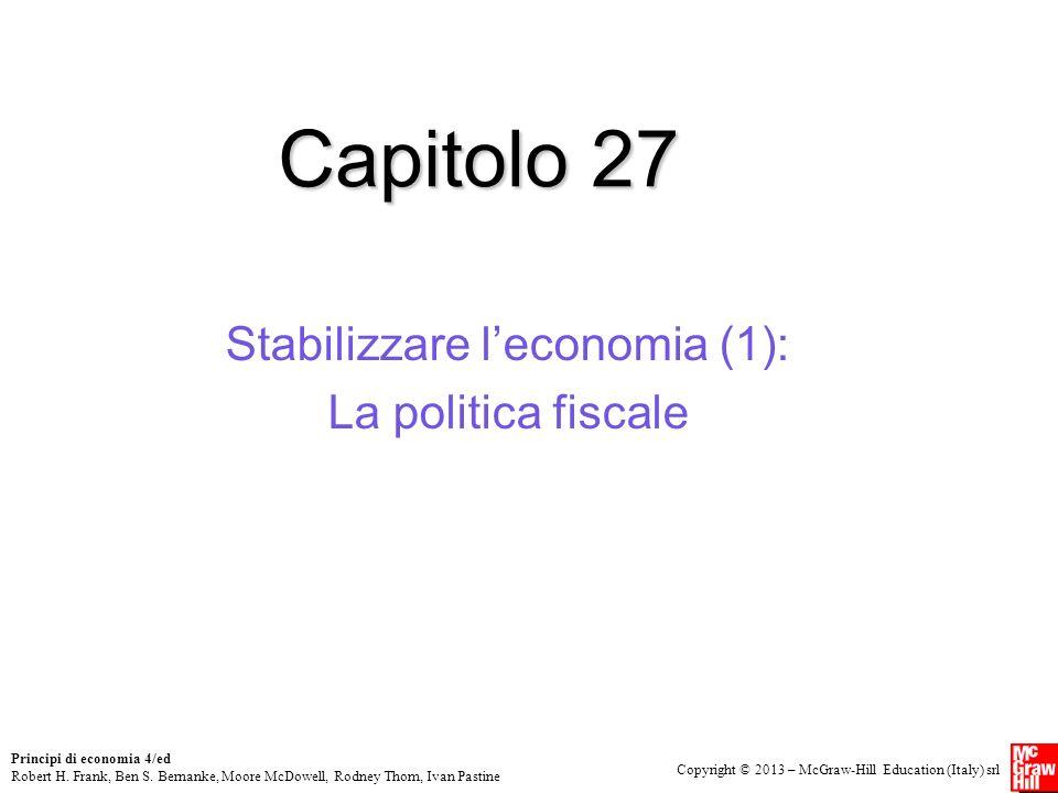 Stabilizzare l'economia (1): La politica fiscale