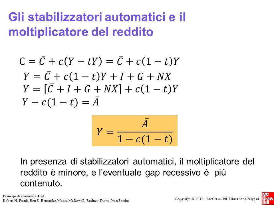 Gli stabilizzatori automatici e il moltiplicatore del reddito