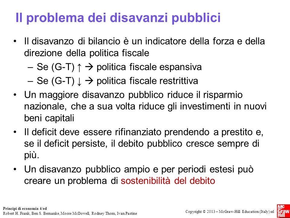 Il problema dei disavanzi pubblici