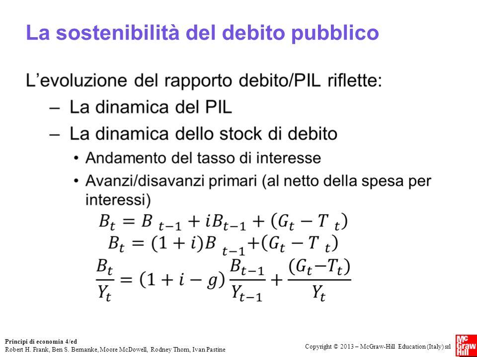 La sostenibilità del debito pubblico