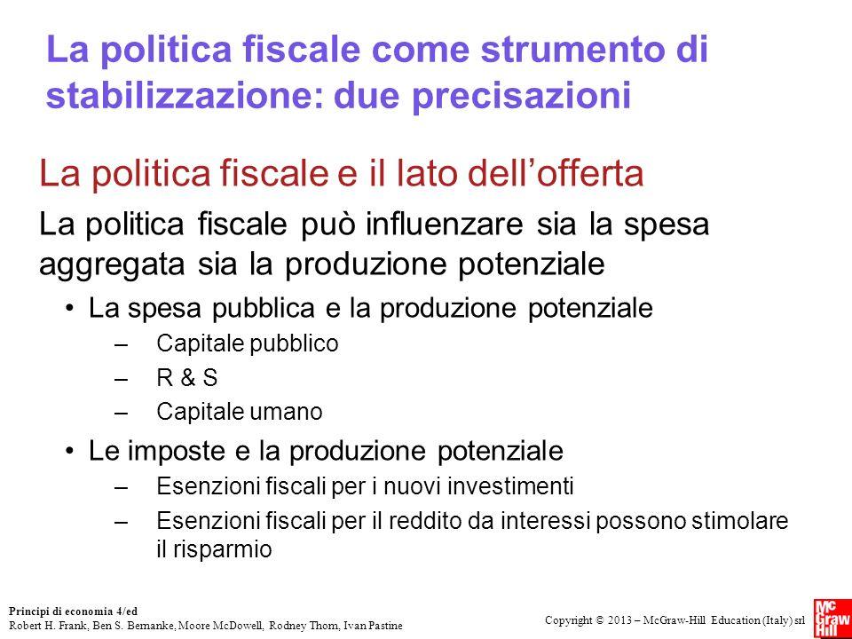 La politica fiscale e il lato dell'offerta