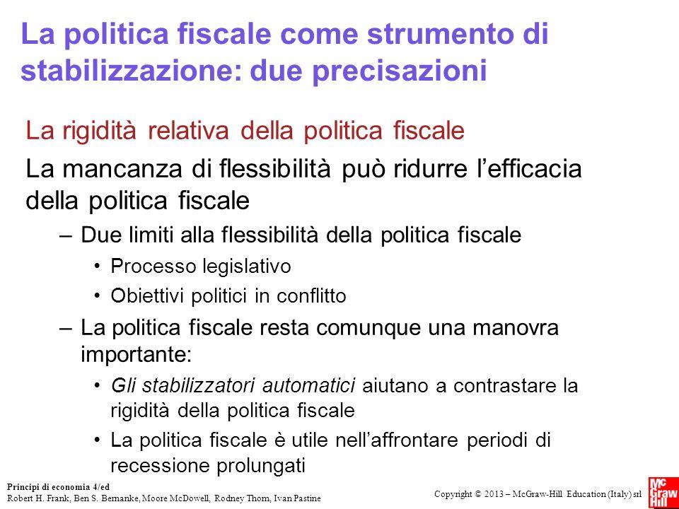 La politica fiscale come strumento di stabilizzazione: due precisazioni