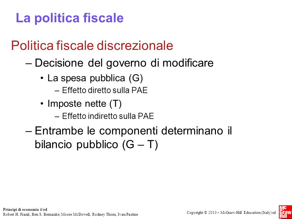 Politica fiscale discrezionale