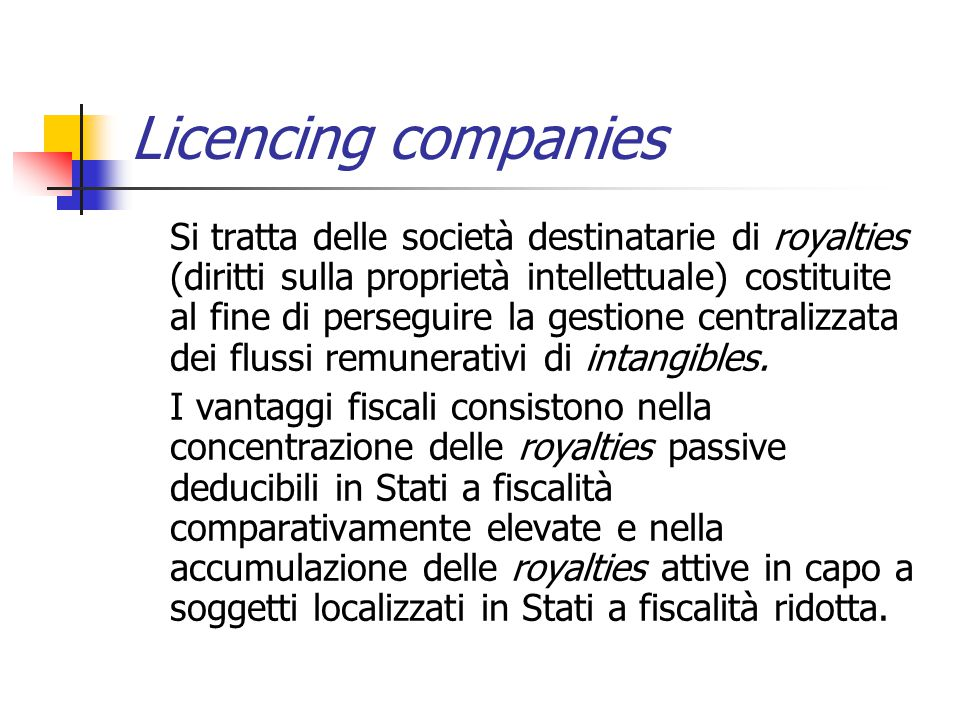 Licencing companies