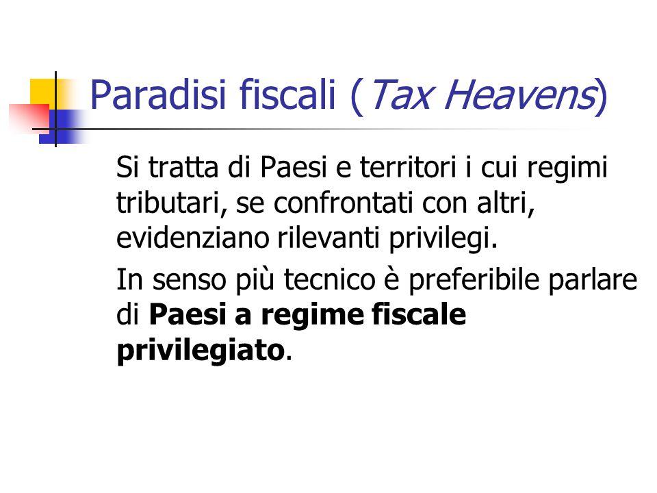Paradisi fiscali (Tax Heavens)