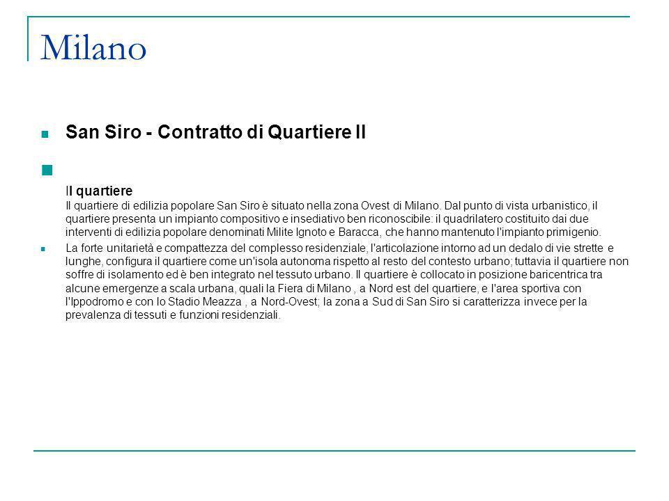 MilanoSan Siro - Contratto di Quartiere II.