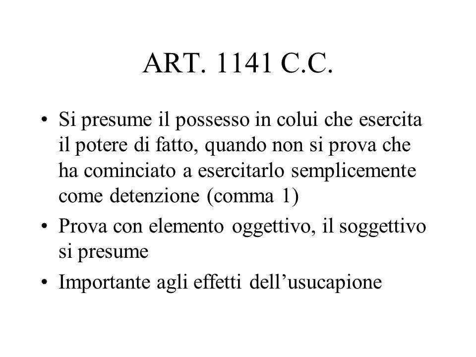 ART. 1141 C.C.