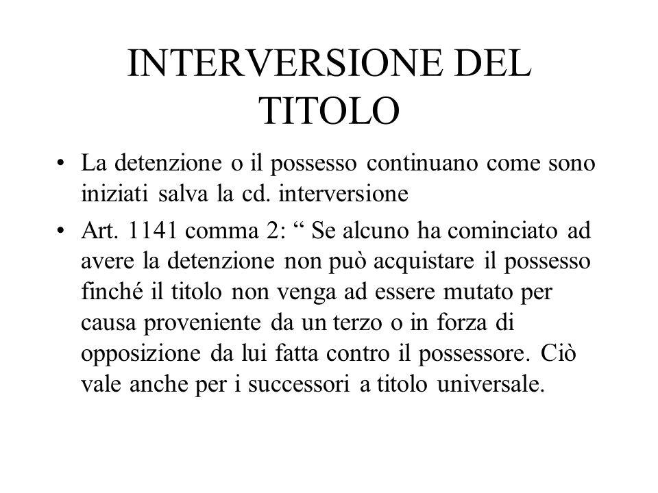 INTERVERSIONE DEL TITOLO