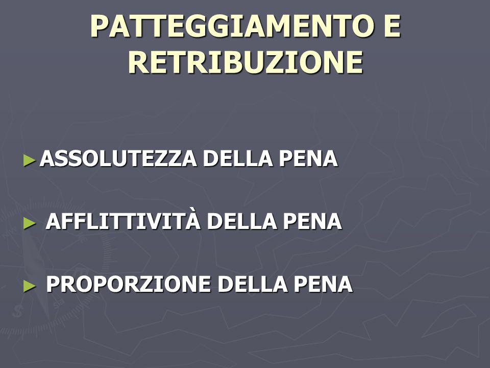 PATTEGGIAMENTO E RETRIBUZIONE
