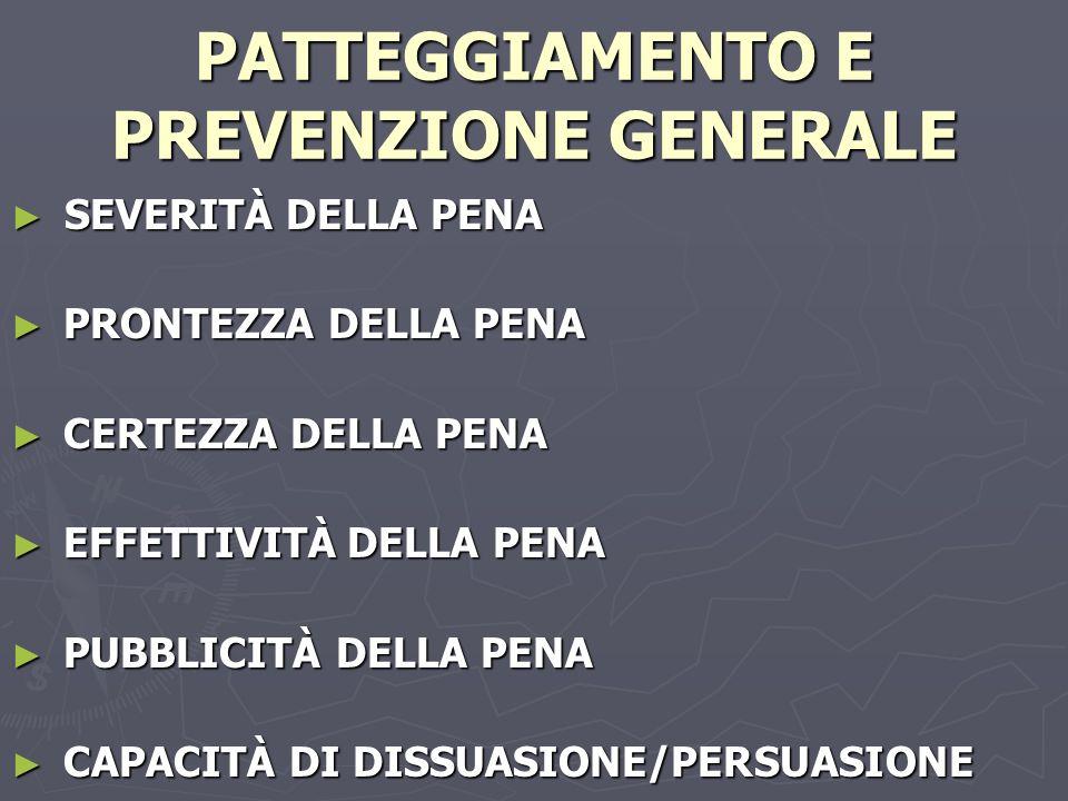 PATTEGGIAMENTO E PREVENZIONE GENERALE