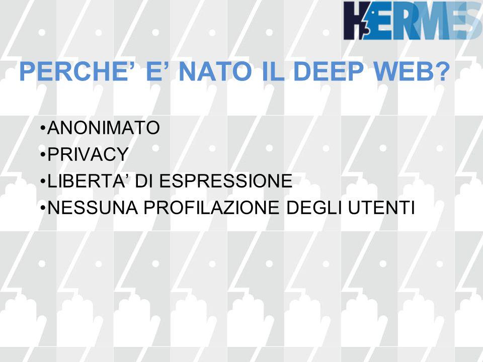 PERCHE' E' NATO IL DEEP WEB