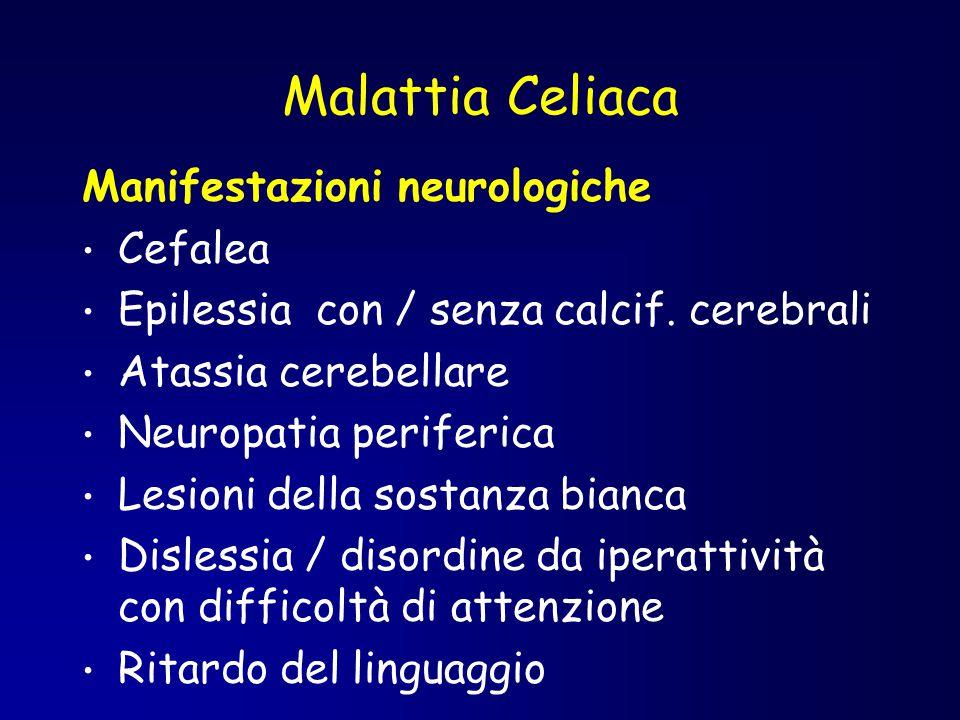 Malattia Celiaca Manifestazioni neurologiche Cefalea