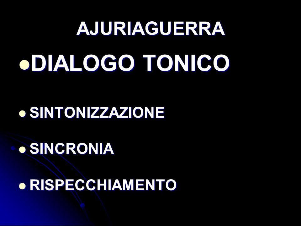 AJURIAGUERRA DIALOGO TONICO SINTONIZZAZIONE SINCRONIA RISPECCHIAMENTO