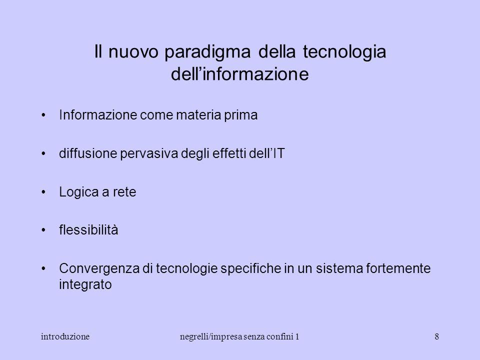 Il nuovo paradigma della tecnologia dell'informazione